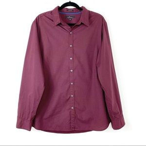 Marc Anthony Slim Fit Button-Up Shirt Burgundy XL